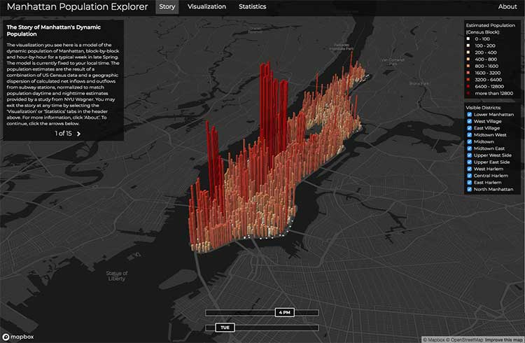 10 mapas interactivos como ejemplos de visualización de datos